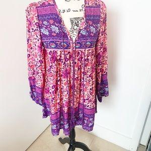 sipin woman Dresses - Long Sleeve Boho Dress/Tunic